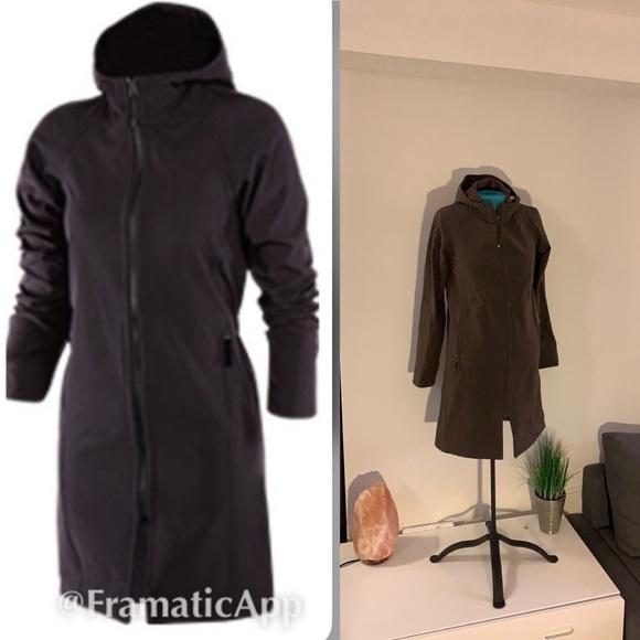 Lululemon apres rain jacket sz 4 brown
